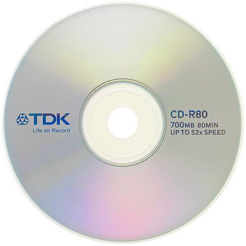 tdk 52x cd r t18767 700mb blank cdr discs 25 disc cake tub. Black Bedroom Furniture Sets. Home Design Ideas