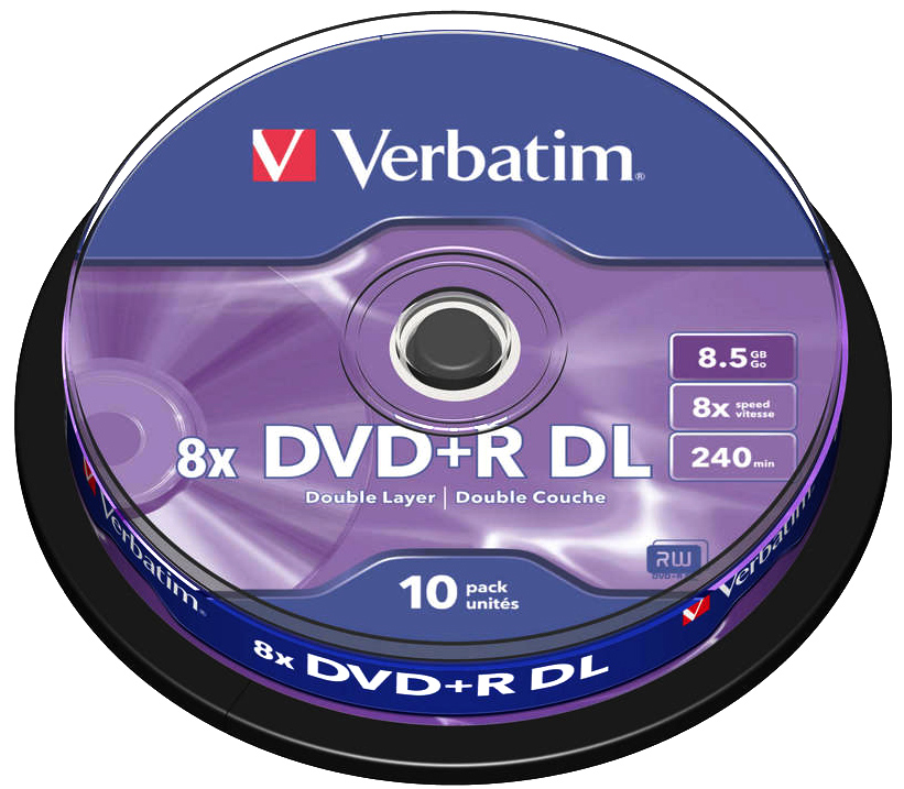 verbatim 8x dvd r dl dual layer blank dvds branded. Black Bedroom Furniture Sets. Home Design Ideas