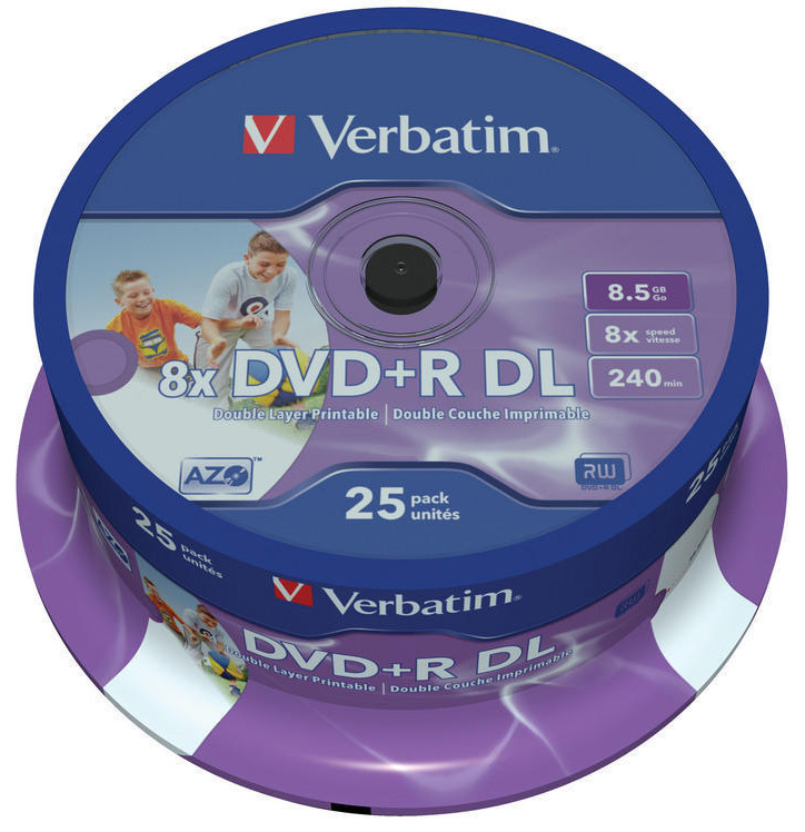 verbatim 8x dual layer dvd r dl white printable 8 4gb. Black Bedroom Furniture Sets. Home Design Ideas