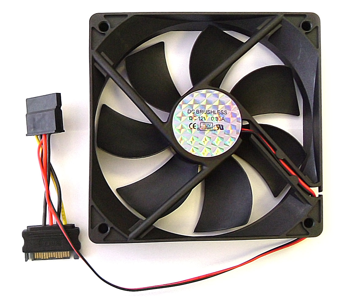 Computer Cooling Fans : Atx case fan pc cooling sata power connections mm