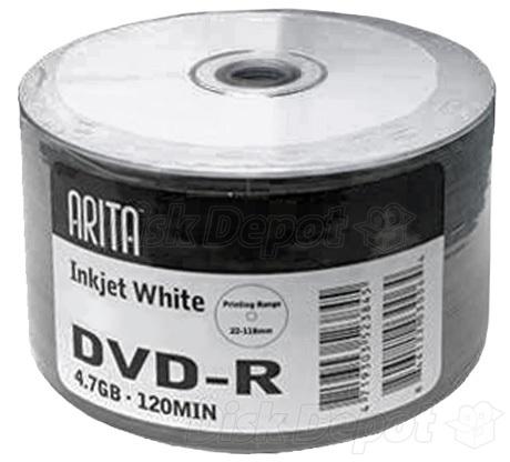 Arita Ritek 8x DVD-R - Full-Face Printable - Recordable ...