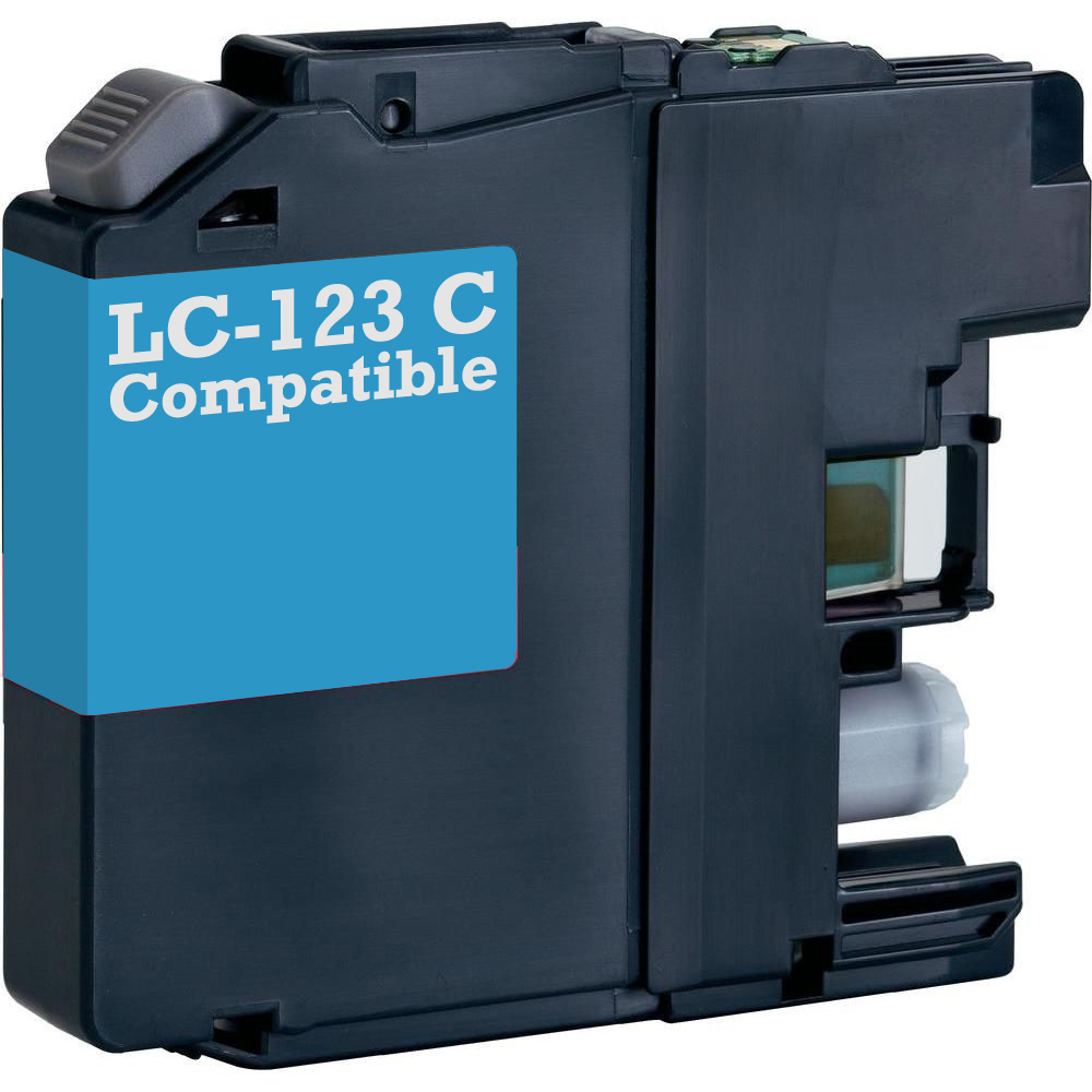 Brother Compatible LC 123 LC 123C Cyan Printer Ink