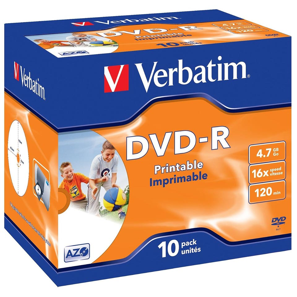 Universal image with verbatim printable dvd r