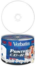 image about Verbatim Cd R Printable named ~ Verbatim Azo Extensive / Total Encounter Inkjet Printable 52x CDR 50 Blank Discs - 80 Second / 700MB CD-R (43438)