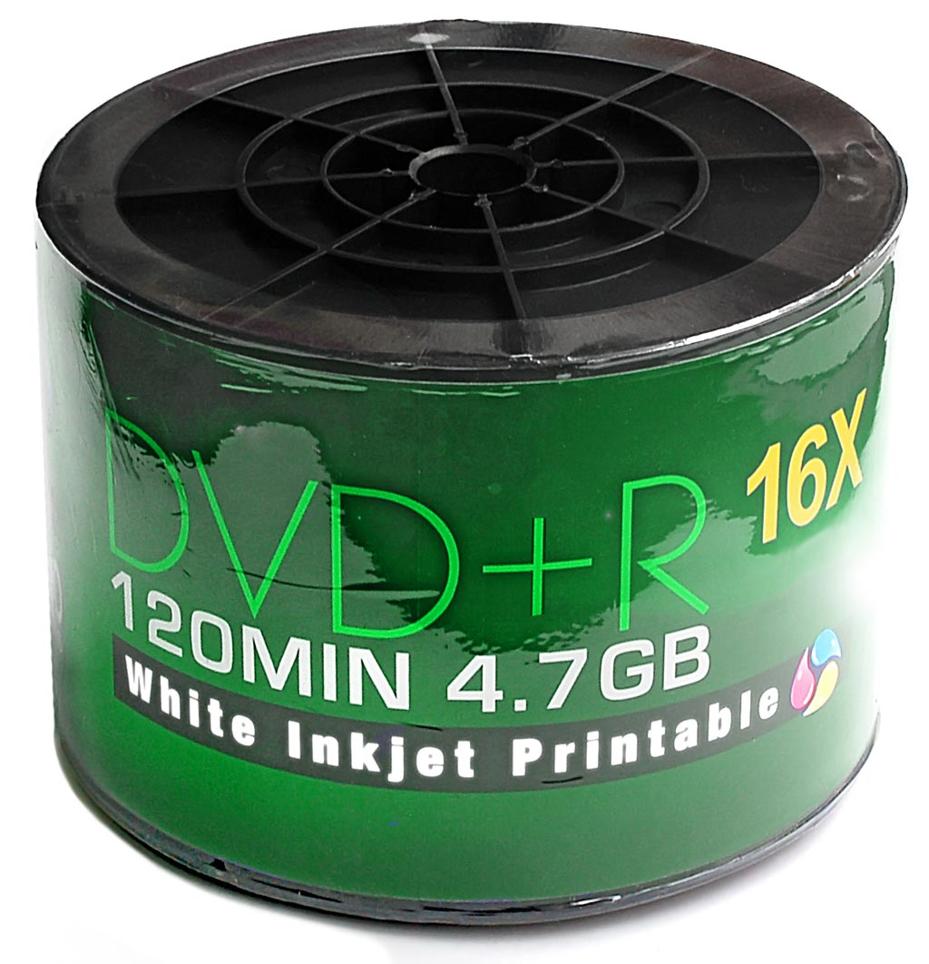 image relating to Printable Dvds named AOne 16x DVD+R - Total-Confront Printable - 4.7GB - 50 Pack